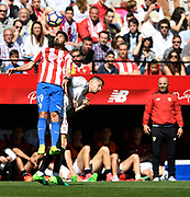 Carlos Carmona of Sporting Gijon in duel with Vitolo of Sevilla FC during the Spanish championship Liga football match between Sevilla FC and Sporting Gijon on April 2, 2017 at Sanchez Pizjuan stadium in Sevilla, Spain - photo Cristobal Duenas / Spain / ProSportsImages / DPPI