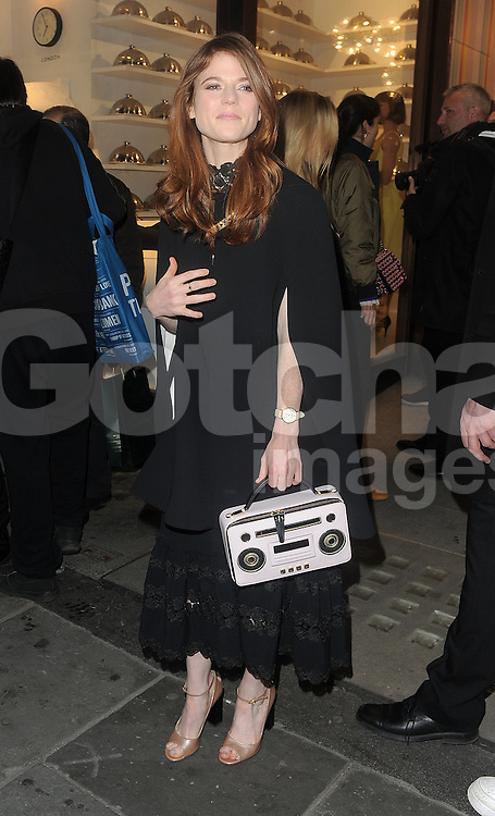 Rose Leslie attends the Kate Spade New York Regent Street - launch in London, UK. 21/04/2016<br />