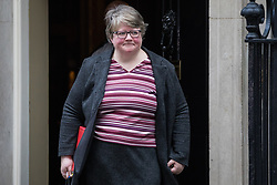 London, UK. 7 January, 2020.  Thérèse Coffey, Secretary of State for Work and Pensions, leaves 10 Downing Street following a Cabinet meeting.