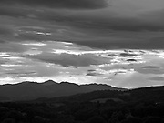 Admiring lights and clouds and layers of mountains receding into the distance along the line of the Highland Boundary Fault.