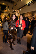 SILVIA BRUTTINI; GAIA MANCADA, Preview party for the Versace Sale.  The contents of fashion designer Gianni Versace's villa on Lake Como. Sothebys. Old Bond St. London. 16 March 2009.