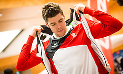 28.01.2014,  Marriott, Wien, AUT, Sochi 2014, Einkleidung OeOC, im Bild Matthias Trattnig (Eishockey, AUT) // Matthias Trattnig (Icehockey, AUT) during the outfitting of the Austrian National Olympic Committee for Sochi 2014 at the  Marriott in Vienna, Austria on 2014/01/28. EXPA Pictures © 2014, PhotoCredit: EXPA/ JFK