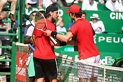April 17, 2018 - Monaco, Monaco - Mischa Zverev vs Lucas Pouille - Rolex Monte-Carlo Masters (Credit Image: © Panoramic via ZUMA Press)