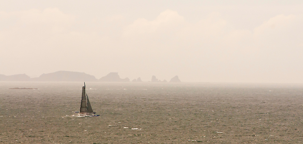 Team Australia beating away from the coast with Cape Brett in the distance, leading the Auckland to Bay of Islands Coastal Classic, New Zealand, Friday October 25, 2013. Credit:SNPA / Malcolm Pullman