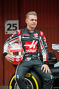 February 26, 2017: Circuit de Catalunya. Kevin Magnussen, Haas F1 Team, VF17 launch