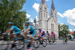 Riders in Kocevje during Stage 2 from Kocevje to Visnja Gora (168,5 km) of cycling race 20th Tour de Slovenie 2013,  on June 14, 2013 in Slovenia. (Photo By Vid Ponikvar / Sportida)