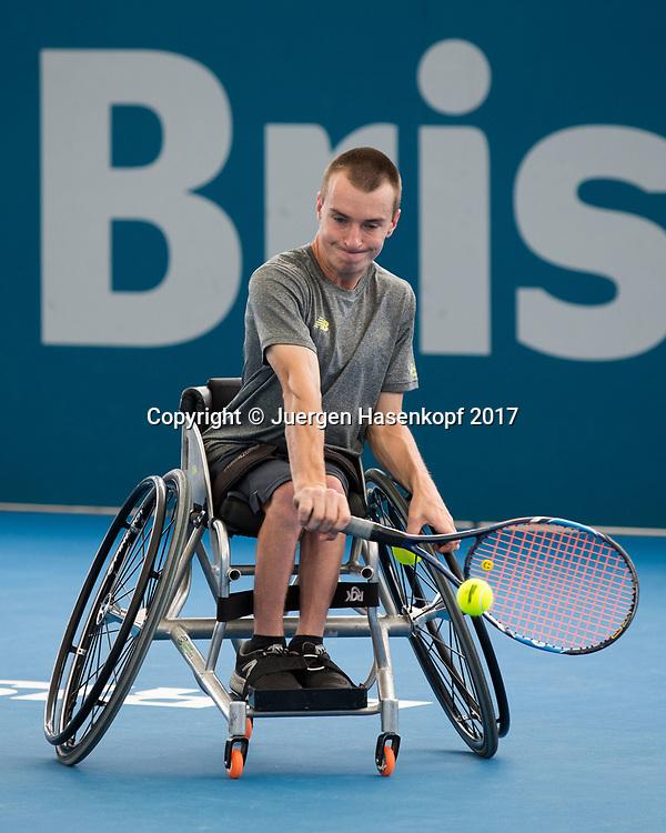 HENRY DE CURE (AUS), Rollstuhl Tennis<br /> <br /> Tennis - Brisbane International  2017 - ITF -  Pat Rafter Arena - Brisbane - QLD - Australia  - 7 January 2017. <br /> &copy; Juergen Hasenkopf