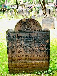 Gravestone in Trinity Church, New York City