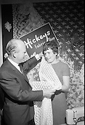 A presentation is made to the 'Bride of the Year' , Miss Bridget Flynn, at Hickeys, Abbey Street..17.05.1968