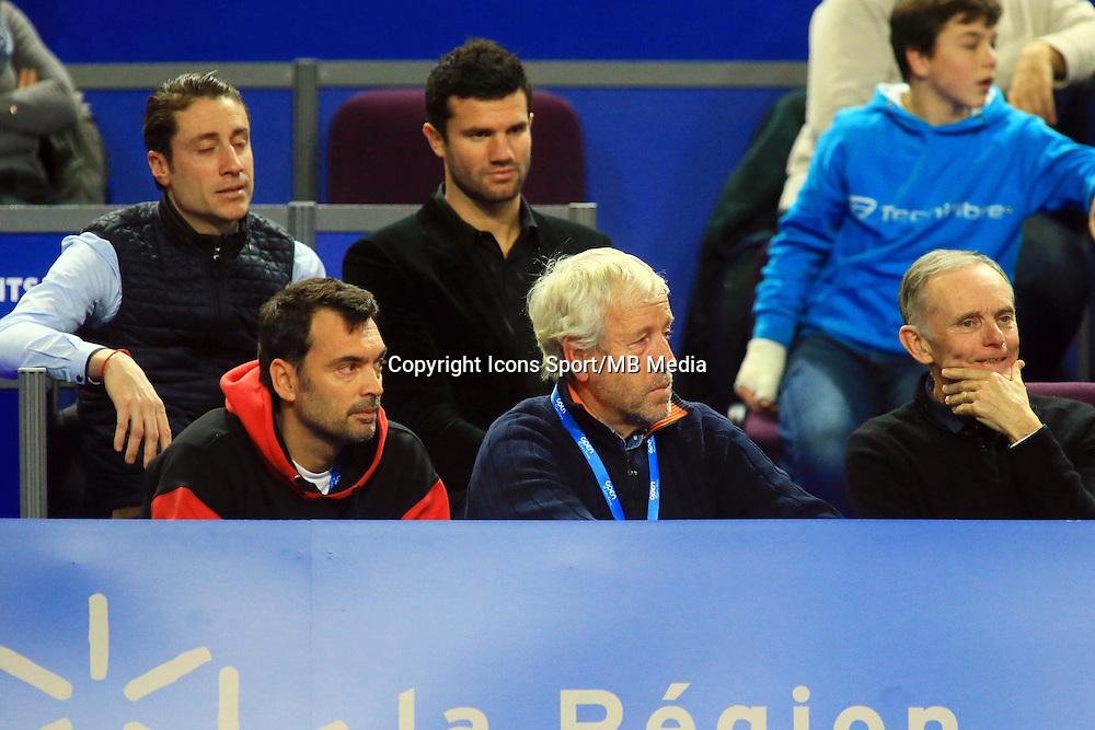 Sergi BRUGUERA / Francis GASQUET - 06.02.2015 - Tennis - Open Sud de France- Montpellier<br /> Photo : Nicolas Guyonnet / Icon Sport
