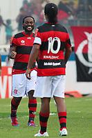 20120401: MACAE, RIO DE JANEIRO,  BRAZIL - Player Wagner Love and Ronaldinho Gaucho during Flamengo Vs Bangu match for Campeonato Carioca (Carioca cup) held at Moacyrzao stadium <br /> PHOTO: CITYFILES