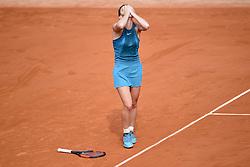 June 9, 2018 - Paris, France, France - joie de Simona Halep (Rou) en fin de match (Credit Image: © Panoramic via ZUMA Press)