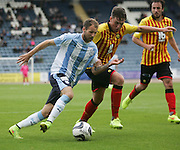 Dundee's Martin Boyle runs at Partick Thistle's Dale Keenan - Dundee v Partick Thistle, SPFL Premiership at Dens Park<br /> <br />  - &copy; David Young - www.davidyoungphoto.co.uk - email: davidyoungphoto@gmail.com