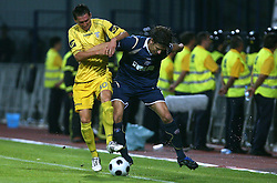 Andraz Kirm  (30) of Domzale vs Dino Drpic of Dinamo at 1st football game of 2nd Qualifying Round for UEFA Champions league between NK Domzale vs HNK Dinamo Zagreb, on July 30, 2008, in Domzale, Slovenia. Dinamo won 3:0. (Photo by Vid Ponikvar / Sportal Images)