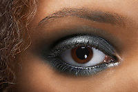 Woman's Eye with Silver Eyeshadow
