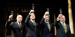 Travels with My Aunt .by Giles Havergal .directed by Christopher Luscombe.at The Menier Chocolate Factory .London, Great Britain. Iain Mitchell.Jonathan Hyde.Gregory Gudgeon .David Bamber,  7th May 2013 . Photo by Elliott Franks / i-Images...