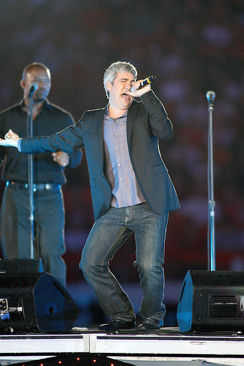 Taylor Hicks performs at halftime of the 2007 Orange Bowl game on January 2, 2007 at the Dolphin Stadium in Miami, Florida.