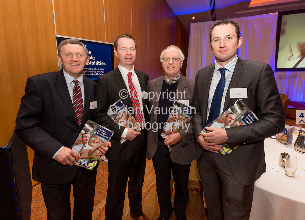 Repro Free no charge for Repr<br /> <br /> 7/2/2014<br /> Pictured here at the Ulster Bank Ahead for Business event, Lyrath Estate Hotel, Kilkenny, on Friday 7th February, (L-R) Eamon Lonergan, Ulster Bank, Patrick O'Gorman, O'Gorman Branigan &amp; Purtill Clonmel, Louis Grubb, J&amp;L Grubb Ltd, Fethard Co. Tipperary and Frank McGrath Ulster Bank.<br /> <br /> <br />  The Ahead for Business events are taking place in 15 locations across Ireland and are open to new and existing Ulster Bank customers. They include information on accessing finance, business planning and cash flow management. Ulster Bank recently announced it has a dedicated &euro;1.2billion available for businesses who are seeking finance to support their growth plans in 2014.<br /> <br /> <br /> Picture Dylan Vaughan.