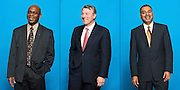 Executives personality portraits.  (from left to right) - Dr. Alfred Botchway, President &amp; Founder of Xenometrics LLC, Dr. Reggie Chandra, President &amp; CEO<br /> Professional Engineering Corporation, and Thomas Wiggans, advisor to Steifel Laboratories.