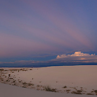 Full moon rise as seen from White Sands National Monument, New Mexico.