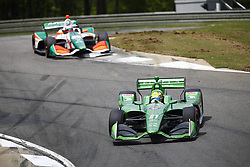April 23, 2018 - Birmingham, Alabama, United States of America - SPENCER PIGOT (21) of the United State battles for position through the turns during the Honda Grand Prix of Alabama at Barber Motorsports Park in Birmingham, Alabama. (Credit Image: © Justin R. Noe Asp Inc/ASP via ZUMA Wire)