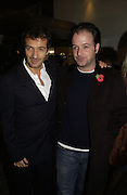 David Heyman,  Matthew Vaughan. World premiere of Harry Potter and the Goblet of Fire. Odeon Leicester Sq and afterwards at then Natural History Museum. London. 6 November 2005.  2005. ONE TIME USE ONLY - DO NOT ARCHIVE © Copyright Photograph by Dafydd Jones 66 Stockwell Park Rd. London SW9 0DA Tel 020 7733 0108 www.dafjones.com