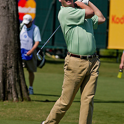 2009 April 22: Peyton Manning quarterback of the NFL's Indianapolis Colts after hitting a shot during the PGA Tour, Zurich Classic of New Orleans Classic Pro-Am played at TPC Louisiana in Avondale, Louisiana.