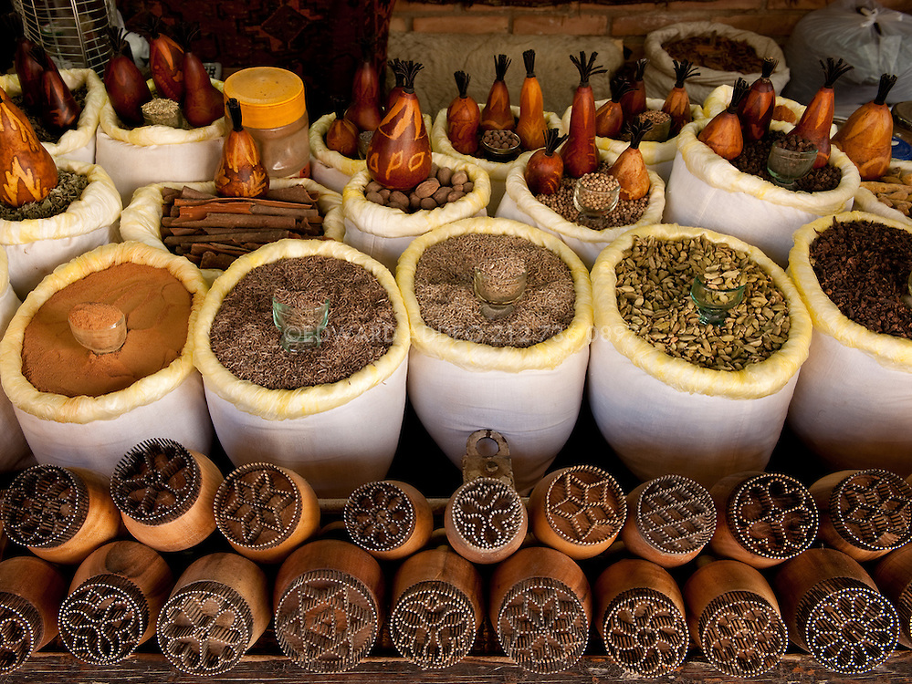 The Spice Man. Spices and Tea in Bokhara Uzbekistan Central Asia