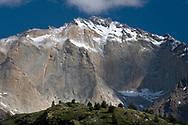 Peaks above Lago Dickson, Torres del Paine national park, Patagonia, Chile