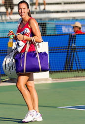 Jelena Jankovic of Serbia after the practice session before  2nd Round of Singles at Banka Koper Slovenia Open WTA Tour tennis tournament, on July 22, 2010 in Portoroz / Portorose, Slovenia. (Photo by Vid Ponikvar / Sportida)