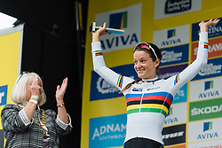 World Champion, Lizzie Armitstead wins Aviva Women's Tour 2016 Stage 3. A 109.6 km road race from Ashbourne to Chesterfield, UK on June 17th 2016.