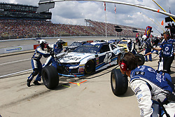 August 12, 2018 - Brooklyn, Michigan, United States of America - Kyle Larson (42) brings his car down pit road for service during the Consumers Energy 400 at Michigan International Speedway in Brooklyn, Michigan. (Credit Image: © Chris Owens Asp Inc/ASP via ZUMA Wire)