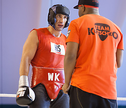 16.04.2013, Stanglwirt, Going, AUT, Wladimir Klitschko, Training, Schwergewichts Champion Wladimir Klitschko bereitet sich beim Stanglwirt im Tiroler Going auf seinen Kampf am 04. Mai 2013 in der SAP Arena, Mannheim, gegen seinen Herausforderer den Deutsch-Italiener Francesco Pianeta vor. Im Bild Wladimir Klitschko mit Trainer Johnathon Banks // Wladimir Klitschko with his Trainer Johnathon Banks during a training session of the Heavyweight champion Wladimir Klitschko for preparation to his fight at 04 May 2013 at the SAP Arena, Mannheim, against his challenger, the German-Italian Francesco Pianeta at the Hotel Stanglwirt, Going, Austria on 2013/04/16. EXPA Pictures © 2013, PhotoCredit: EXPA/ Juergen Feichter