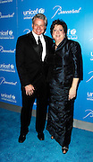 Michael Belliveau and Caryl Stern pose at the 2009 UNICEF Snowflake Ball Arrivals in New York City on December 2, 2009.