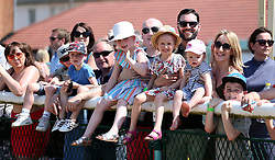General view of family's and kids watching the racing during Kids Carnival Day of The Qatar Airways May Racing Carnival at Warwick Racecourse.