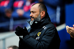 Wolverhampton Wanderers manager Nuno observes a minutes applause in memory of Gordan Banks  - Mandatory by-line: Ryan Hiscott/JMP - 17/02/2019 - FOOTBALL - Ashton Gate Stadium - Bristol, England - Bristol City v Wolverhampton Wanderers - Emirates FA Cup fifth round proper