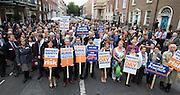 Repro Free: 24/09/2014 For the first time in the history of the state, GPs have been motivated to protest as patient safety is now at risk. GPs (as part of NAGP/ National Association of General Practitioners) outside Leinster House. Picture Andres Poveda