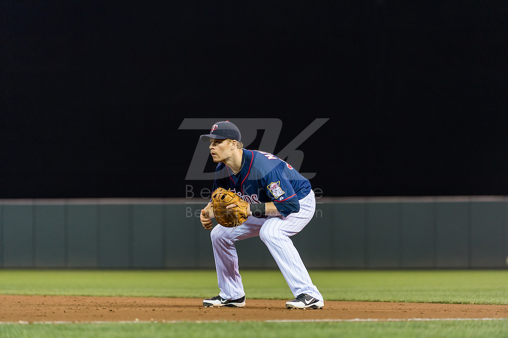 Justin Morneau #33 of the Minnesota Twins prepares for a pitch during a game against the Boston Red Sox on May 17, 2013 at Target Field in Minneapolis, Minnesota.  The Red Sox defeated the Twins 3 to 2.  Photo: Ben Krause