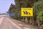Road Sign near Mexican Border, I-5, California (SD)