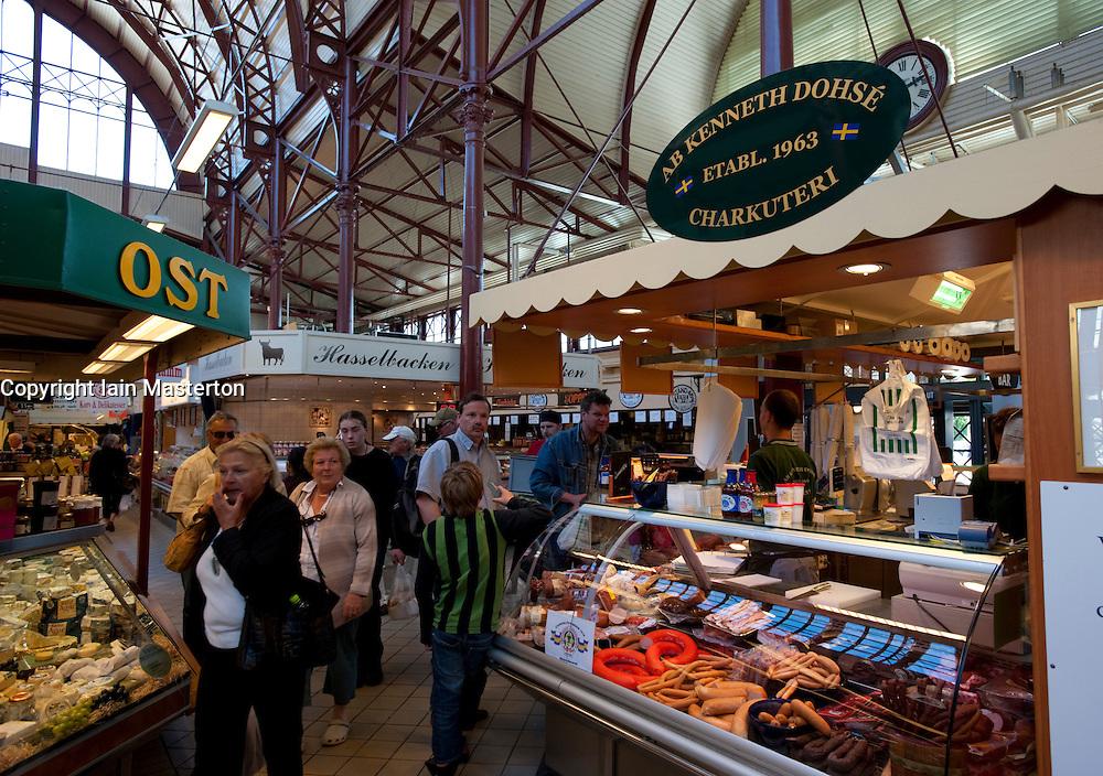 Saluhallen indoor market in Gothenburg Sweden