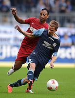 Fussball 2. Bundesliga:  Saison   2012/2013,    4. Spieltag  TSV 1860 Muenchen - MSV Duisburg    31.08.2012 Marin Tomasov (re, 1860 Muenchen) gegen Antonio da Silva (MSV Duisburg)