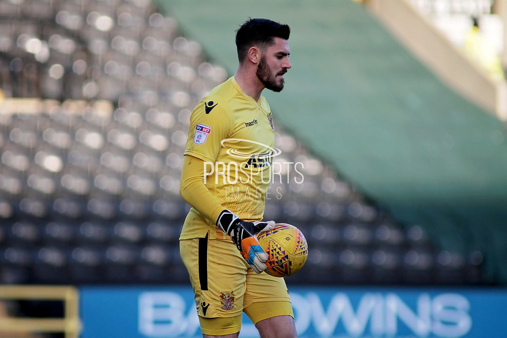 Stevenage goalkeeper Tom King (13) during the EFL Sky Bet League 2 match between Notts County and Stevenage at Meadow Lane, Nottingham, England on 24 February 2018. Picture by Nigel Cole.