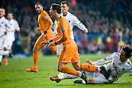 10.12.2013. Copenhagen, Denmark. Penalty after Delaney fouled Ronaldo during the UEFA Champions League macht at the Parken Stadium.Photo: © Ricardo Ramirez.