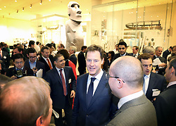 © Licenced to London News Pictures. 29/01/2014. London. UK.  <br /> Deputy Prime Minister Nick Clegg is pictured at a reception at the British Museum in London, January 29th 2014. The leader of the Liberal Democrat Party is joined by representatives from the Mexican and Colombian Embassies ahead of his trade and investment visit to Colombia and Mexico next week.<br /> Photo Credit: Susannah Ireland