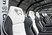 Away teams seats during the Sky Bet Championship match between Derby County and Milton Keynes Dons at the iPro Stadium, Derby, England on 13 February 2016. Photo by Jon Hobley.