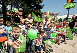 Supporters in Slovenske Konjice during 2nd Stage of 26th Tour of Slovenia 2019 cycling race between Maribor and Celje (146,3 km), on June 20, 2019 in  Slovenia. Photo by Vid Ponikvar / Sportida
