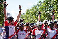 LONDON UK 31ST JULY 2016:  Mike Wells Prudential Group CEO. The Prudential RideLondon-Surrey 46 sportive in London 31st July 2016<br /> <br /> Photo: Jon Buckle/Silverhub for Prudential RideLondon<br /> <br /> Prudential RideLondon is the world's greatest festival of cycling, involving 95,000+ cyclists – from Olympic champions to a free family fun ride - riding in events over closed roads in London and Surrey over the weekend of 29th to 31st July 2016. <br /> <br /> See www.PrudentialRideLondon.co.uk for more.<br /> <br /> For further information: media@londonmarathonevents.co.uk