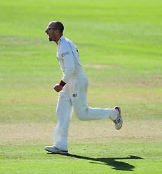 Jack Leach celebrates the wicket of Gordan Muchall.  - Mandatory by-line: Alex Davidson/JMP - 04/08/2016 - CRICKET - The Cooper Associates County Ground - Taunton, United Kingdom - Somerset v Durham - County Championship