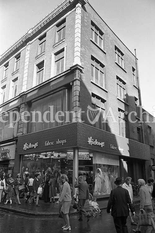 Hickey's fabric shop, Henry Street, Dublin. September 1972. (Part of the Independent Newspapers/NLI Collection)