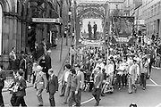 Elsecar and Cortonwood banners, 1983 Yorkshire Miner's Gala. Barnsley